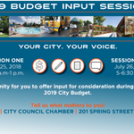 2018 Budget Input Sessions