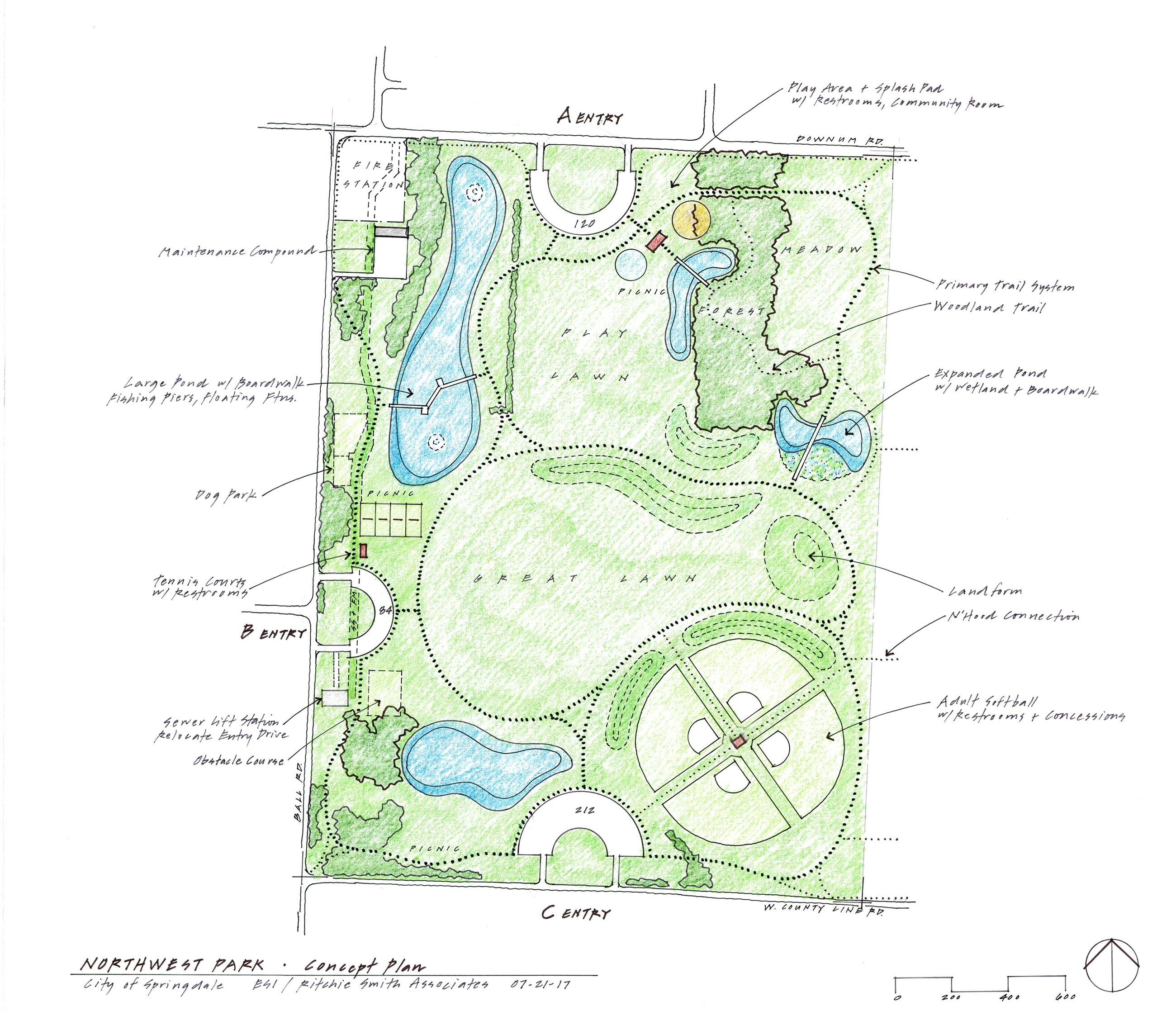 Northwest Park - concept plan 07.21.17