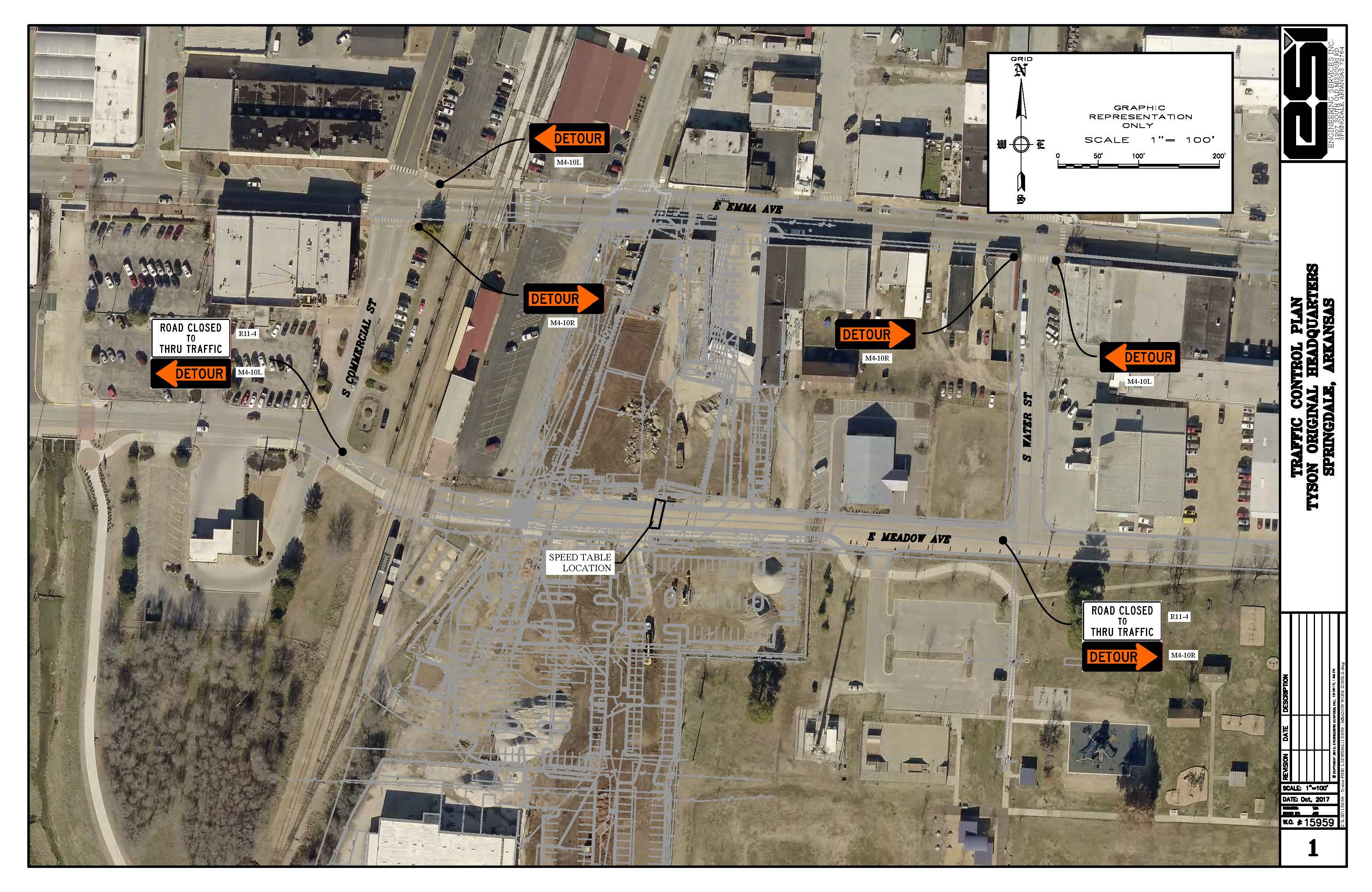 Meadow Ave. Closure - TYSON TRAFFIC CONTROL PLAN