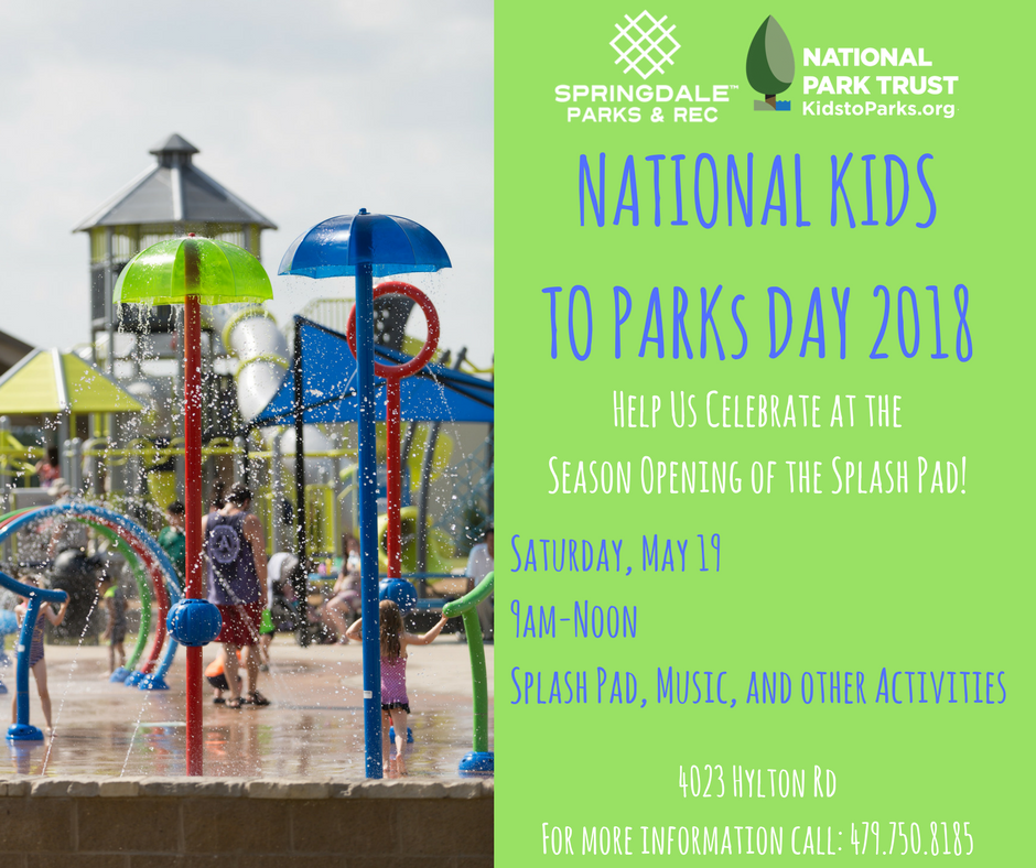 Help Us Celebrate National Kids to Park Day at the Season Opening of the Splash Pad!