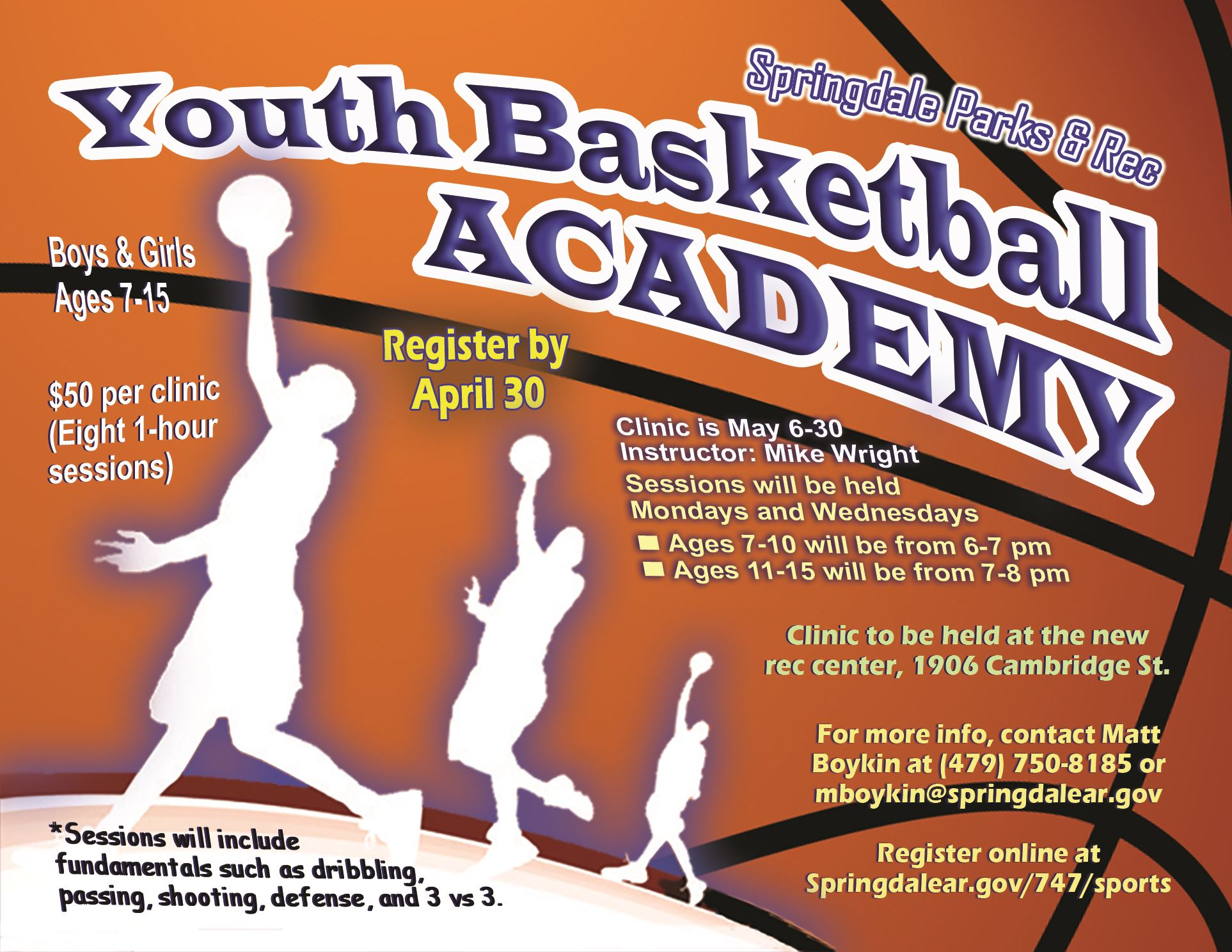 Basketball Academy Flyer