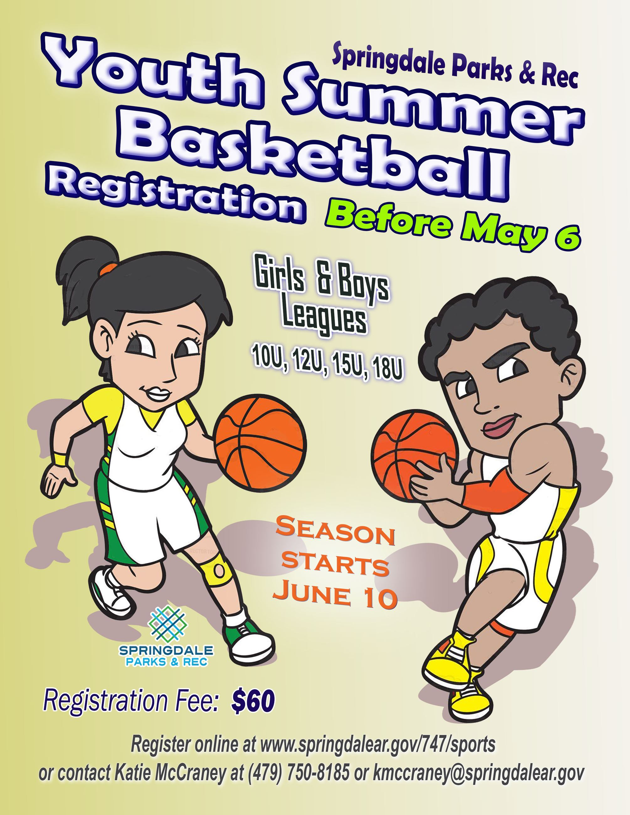 2019 Youth Summer Basketbll Flyer