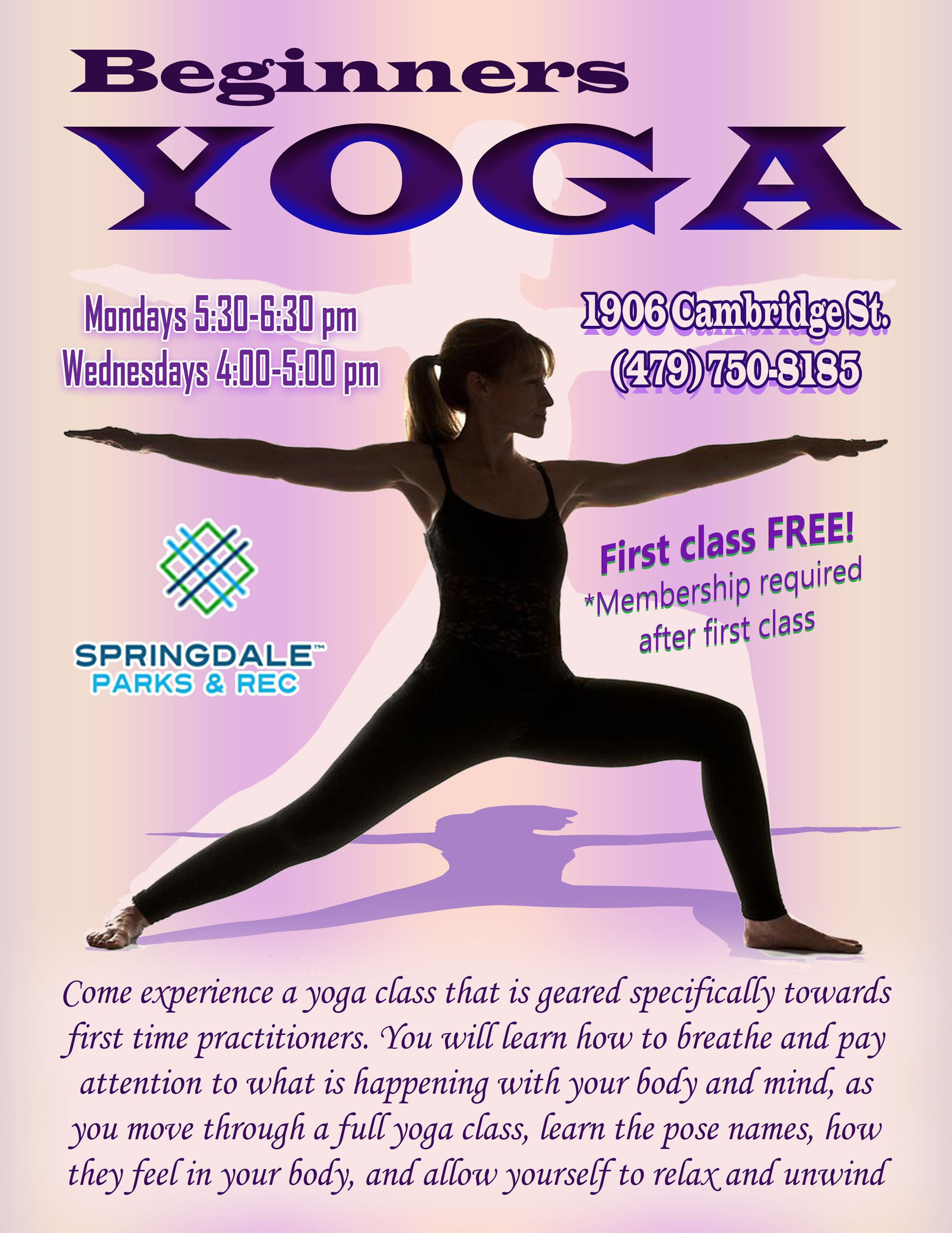 Yoga Flyer - update August 21