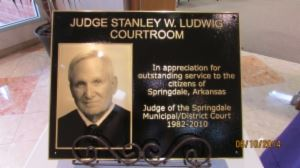 Judge Stanley Ludwig Court Room Plaque