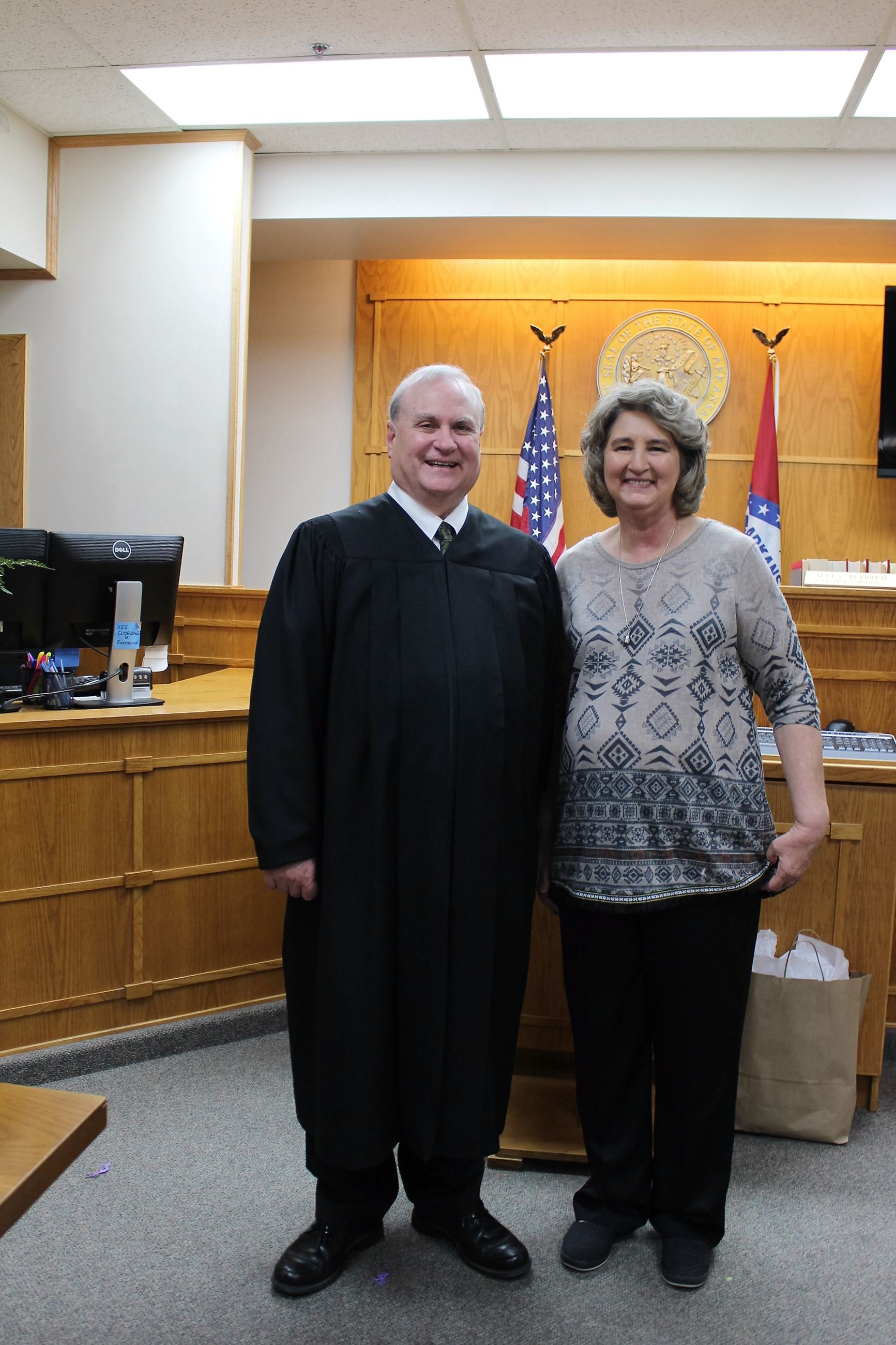 Sue Boman was sworn in as Springdale District Court's new Court Clerk.