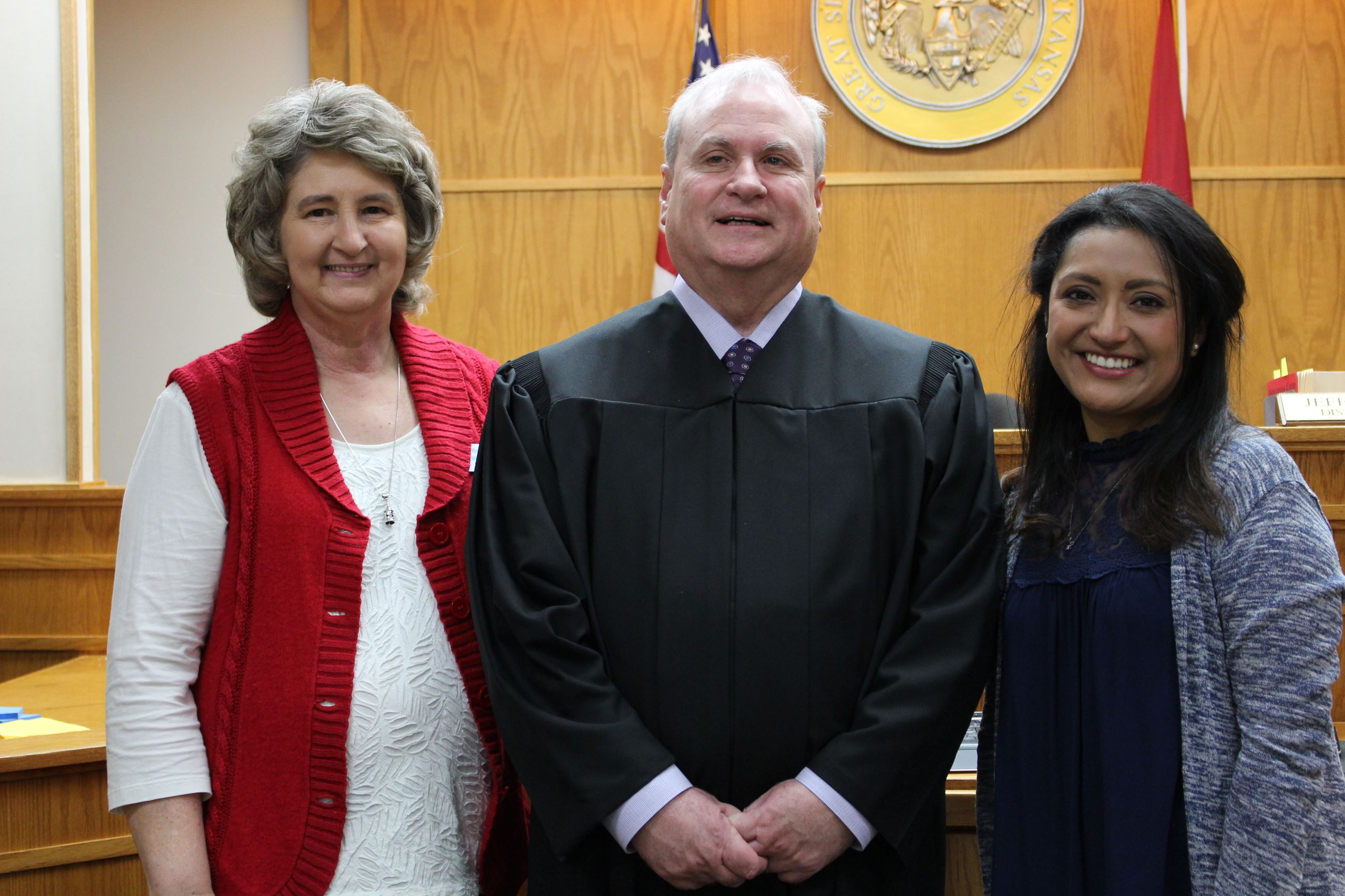 Julia Ritter was sworn in by Judge Harper as Springdale District Court's new Chief Deputy Clerk.